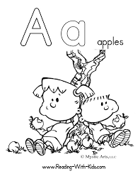 Creative Inspiration Letter Coloring Page A Is For Apple