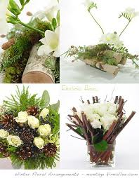 Winter Floral Arrangements By Fauchois Flowers