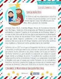 Carta Al Niño Dios Ministerio De Educación Nacional De Colombia