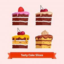 Tasty cake slices
