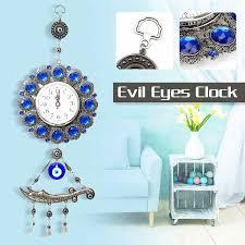 wanduhr türkischen muslimischen böse blue eye wohnzimmer hängen uhr wanduhren anhänger amulett wohnkultur ornament dekoration