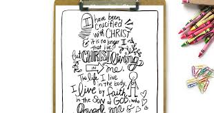 My Not Enough Manifesto Crucified With Christ Printable Coloring Page