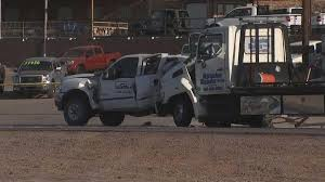 100 Tow Truck Phoenix Unconscious Driver Extricated After Tow Truck Crash In Mesa