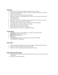 Runner Resume Handset Testing Load Loadrunner Sample
