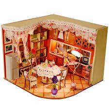 Lovely Merry Sweet Home Habitat Room DIY Dollhouse Kit With LED