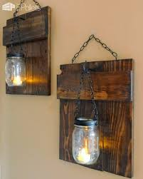 I Saw These Rustic Pallet Sconces On Facebook And Just Knew Could Make Them From