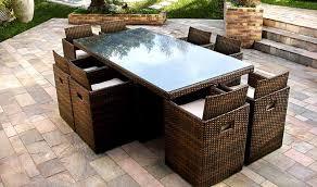 tables de jardin en resine salon de jardin résine tressée salon de jardin design pas cher