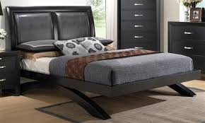 Galinda Bed in Black Finish by Crown Mark B4380 Bed