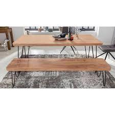 esszimmer sitzbank massiv holz akazie holz bank natur produkt küchenbank im landhaus stil b h t ca 120 45 40cm