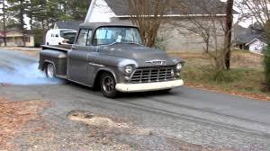 100 55chevy Truck 55 Chevy Truck Mrshevyshevy Does A Burnout YouTube