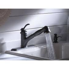 Kohler Fairfax Bathroom Faucet Leak by Satin Nickel Kohler Fairfax Kitchen Faucet Single Hole Handle Pull
