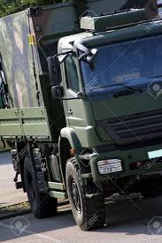 Big Green Military Truck For Troop Transporting Stock Photo, Picture ...