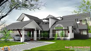 Pitched Roof House Designs Photo by Sloped Roof Home With Skylight Courtyard Kerala Home Design And