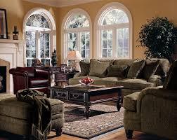 Bernhardt Brae Sofa Leather by Bernhardt Tarleton Traditional Styled Stationary Sofa In Slightly