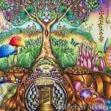 Trees Enchanted Abstract Beautiful Forest Colorful