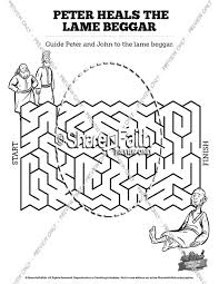 Acts 3 Peter Heals The Lame Man Bible Mazes
