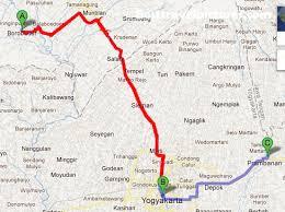 The Map To Borobudur From Yogya