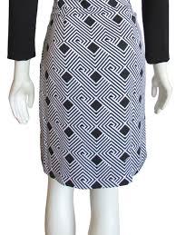 diane von furstenberg gianna geo print faux wrap dress