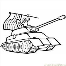 Soldier In Tank With Usa Flag Coloring Page