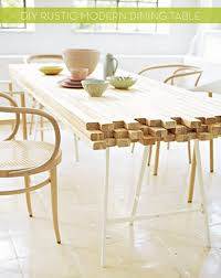 Pretty Diy Dining Table On Rustic Modern Curbly Design Decor
