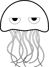 Outstanding Jelly Fish Coloring Pages With Jellyfish Page And Spongebob