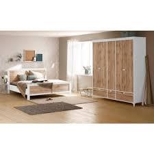 home affaire schlafzimmer set kjell set 4 tlg bestehend aus einem bett zwei nachttischen und einem kleiderschrank