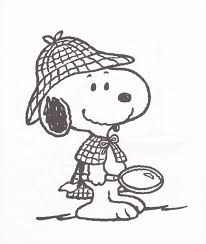 Snoopy Dog Coloring Pages Kids Printable Sheets Detective