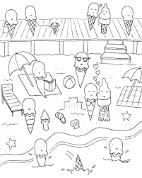 Coloring Book Pages Summer Gallery Of Art Free Download