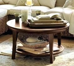 Coffee Tables Pottery Barn Attractive Pottery Barn Round Coffee