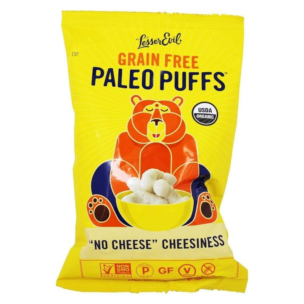 Lesserevil Paleo Puffs, No Cheese Cheesiness - 5 oz