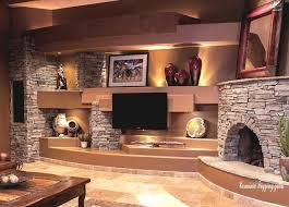 Rustic Living Room Design With Amazing TV Unite
