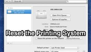 How To Reset The Printing System In Mac OS X Fix Annoying Printer Problems