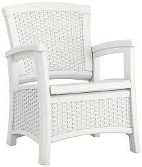 Walmart Suncast Patio Furniture by Amazon Com Suncast Elements Club Chair With Storage White