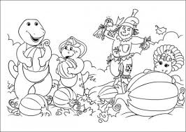 Free Barney And Friends Coloring Pages All About