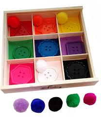 Skoolzy Learning Colors And Shapes Wooden Sorting Box