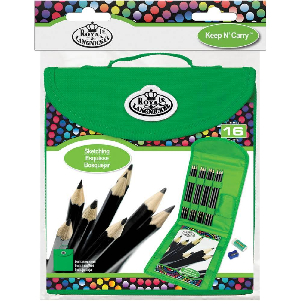 Royal Brush Cool Art Sketching Pencil Keep & Carry Set