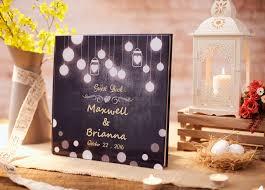 Rustic Wedding Guest Book Alternative Custom