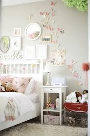 Light Pink And Grey Bedroom For Teenage Girls Decorate The Wall With Paper Butterflies In