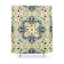 100 Ochre Home US 1623 30 OFFProtea Pattern In Deep Teal Cream Sage Green Yellow Shower Curtainin Shower Curtains From Garden On AliExpress