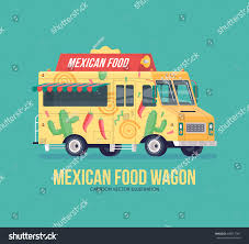 Colorful Vector Mexican Traditional Cuisine Truck Stock Vector ...