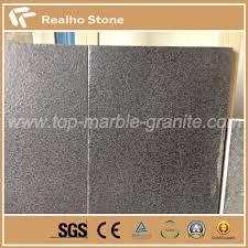 leathered g684 black pearl fuding black basalt granite tiles