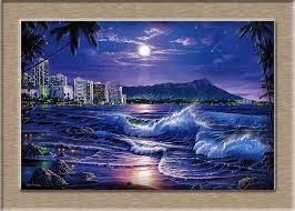 Christian Riese Lassen Waikiki Romance HD Print Oil Painting Wall Art Picture For Living