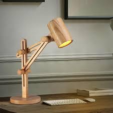 Wood Adjustable Desk Lamp With Wooden Shade Lever 12Vmonster Plan 6