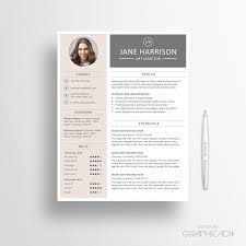 Resume Template CV And Cover Letter Instant Download By Graphicadi