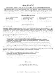 Free Store Manager Resume Doc Resumes Sample Retail Samples Format Download