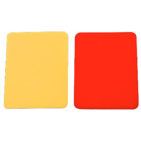 Kwik Goal Soccer Cards - Red and Yellow