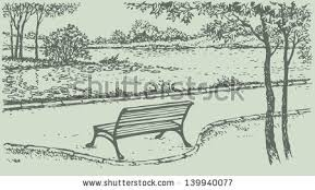 Park Bench Tree Stock Royalty Free & Vectors