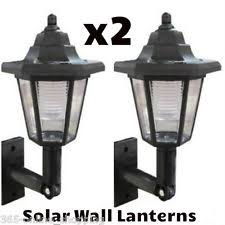 solar exterior wall lights brown solar powered fence light wall