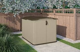 Rubbermaid Slide Lid Storage Shed Shelves by Horizontal Storage Sheds Outdoor Quality Plastic Sheds