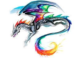 Rainbow Dragon 8x10inch Print